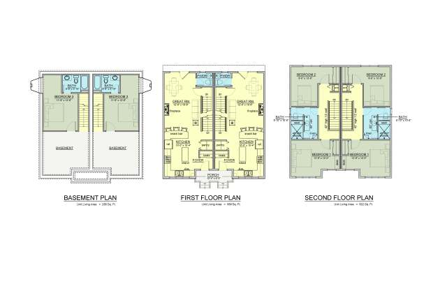 Geneseo Row House COLOR PLANS