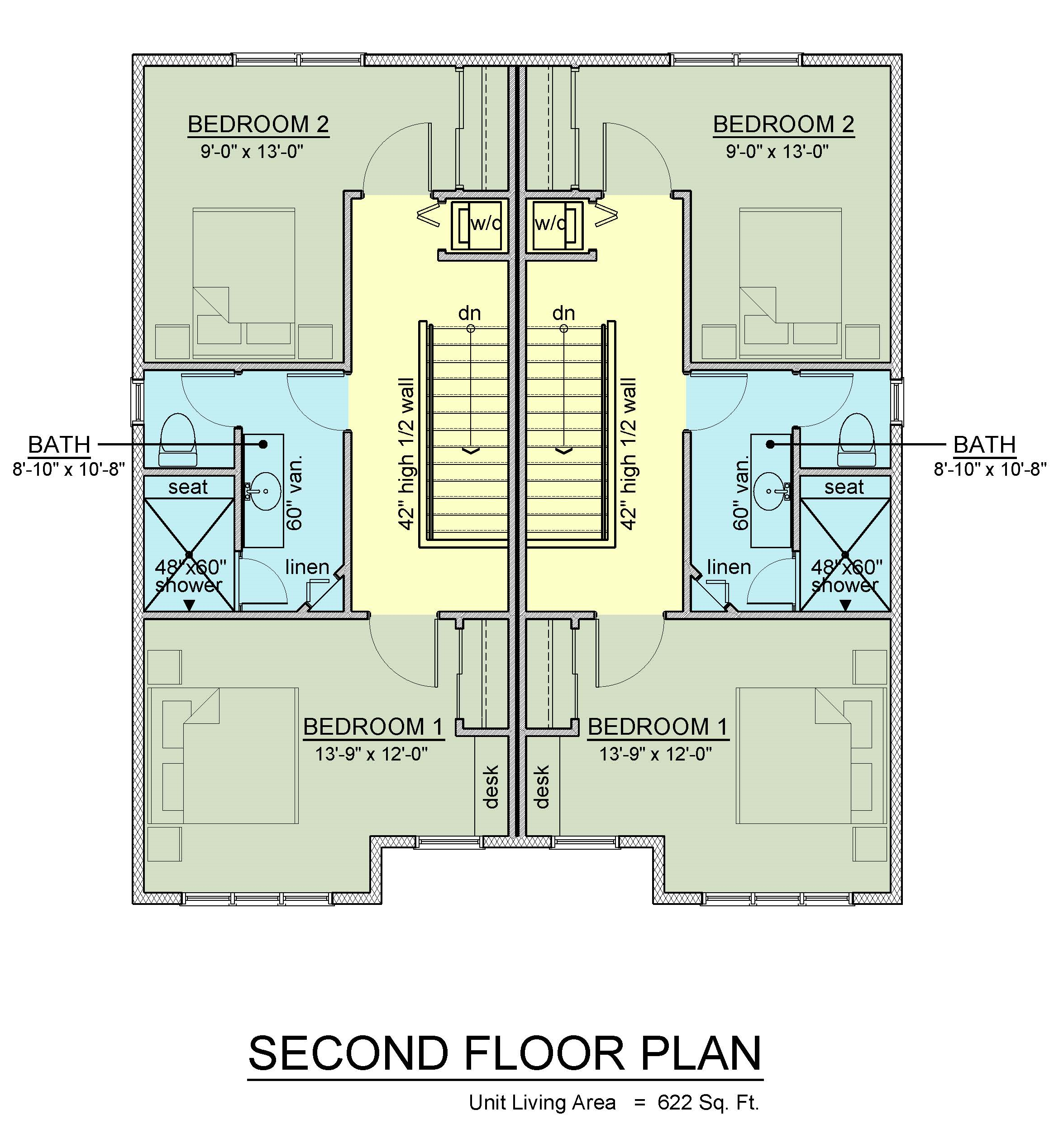 Second floor plan geneseo apartments new off campus for Upstairs floor plans